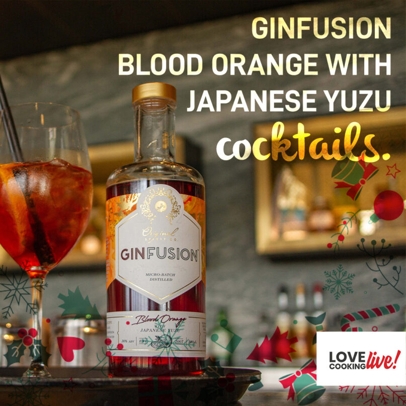 Ginfusion Blood Orange with Japanese Yuzu Cocktails